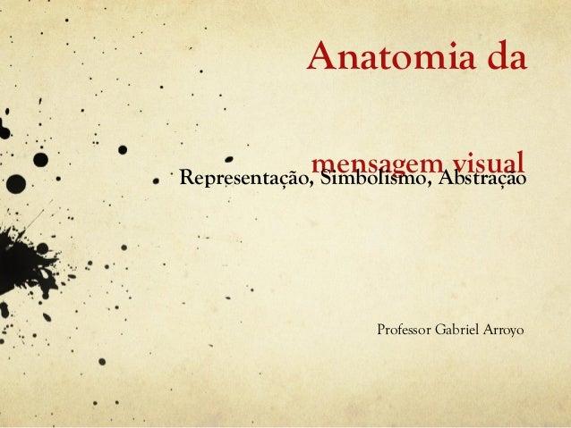 Anatomia da             mensagem visualRepresentação, Simbolismo, Abstração                    Professor Gabriel Arroyo