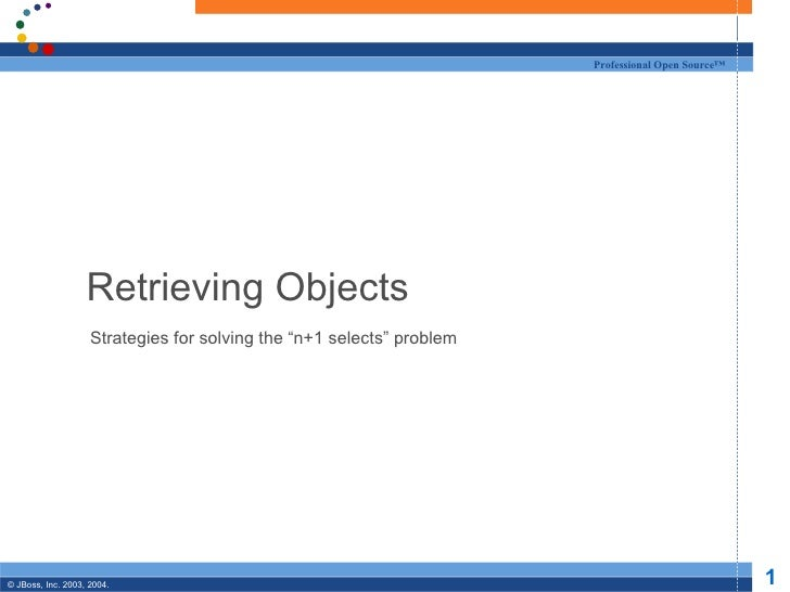 """Retrieving Objects Strategies for solving the """"n+1 selects"""" problem"""
