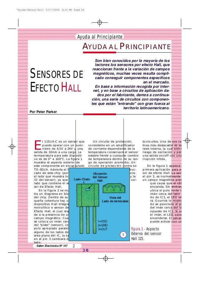 Ayuda al Principiante Saber Electrónica Nº 147 2 26 E l 115UA-C es un sensor que puede operar con un sumi- nistro de 4,5V ...