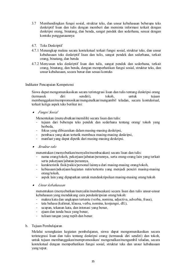 Silabus Bahasa Inggris Smp Mts Revisi 2017