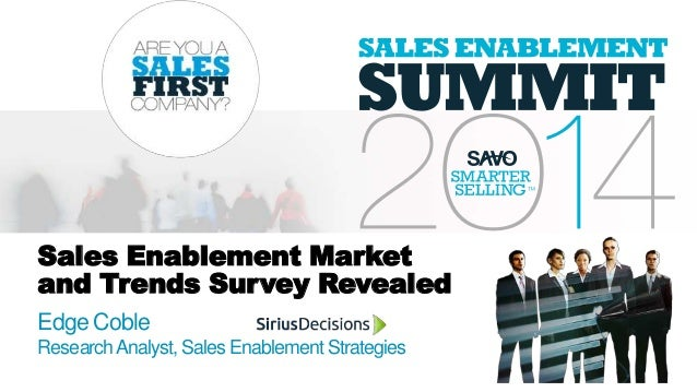 Sales Enablement Market and Trends Survey Revealed Edge Coble ResearchAnalyst, Sales EnablementStrategies