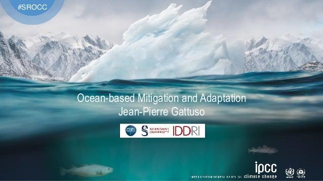 #SROCC Ocean-based Mitigation and Adaptation Jean-Pierre Gattuso