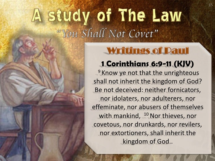 07 Study Of The Law Love Coveteousness