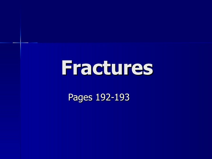 Fractures Pages 192-193