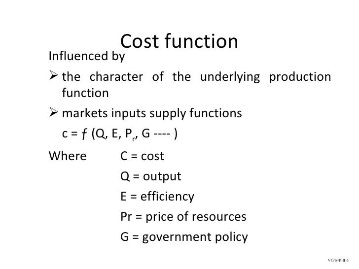 Business Economics 07 Theory Of Cost