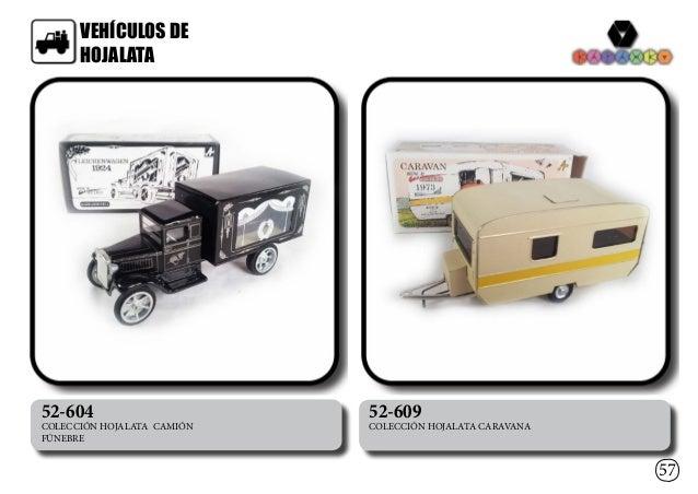 VEHÍCULOS DE HOJALATA 57 52-604 COLECCIÓN HOJALATA CAMIÓN FÚNEBRE 52-609 COLECCIÓN HOJALATA CARAVANA
