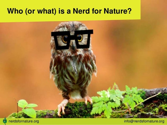 Who (or what) is a Nerd for Nature? nerdsfornature.org info@nerdsfornature.org