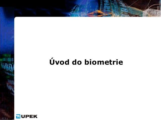 Úvod do biometrie