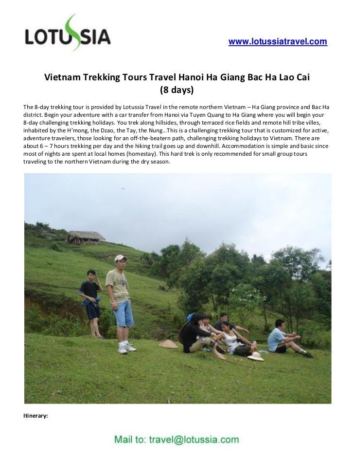 www.lotussiatravel.com        Vietnam Trekking Tours Travel Hanoi Ha Giang Bac Ha Lao Cai                                 ...