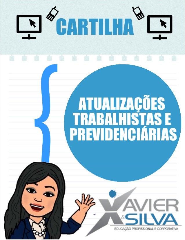 CARTILHA ATUALIZAÇÕES TRABALHISTAS E PREVIDENCIÁRIAS