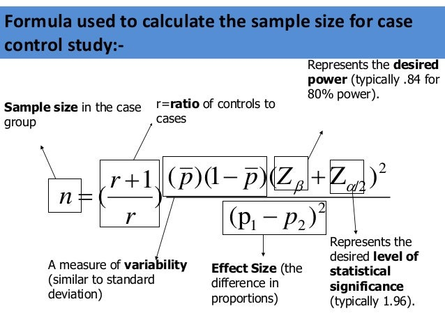 How to calculate sample size for case control study?