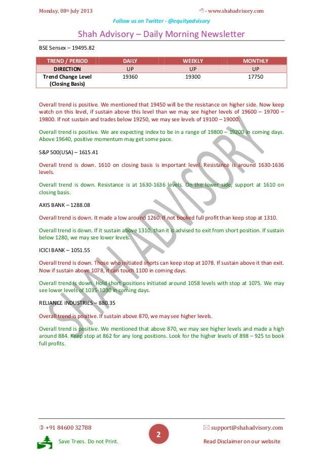 Daily Newsletter - 08-07-2013 Slide 2