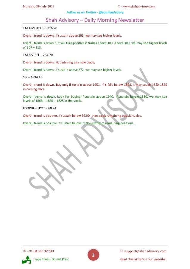 Daily Newsletter - 08-07-2013 Slide 3