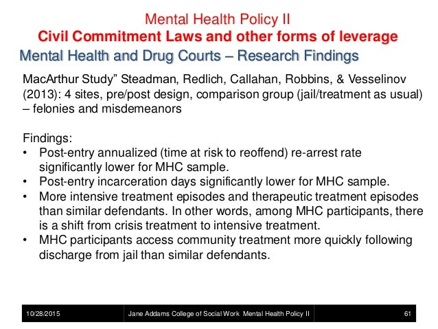 Mental Health Policy Mental Illness And The Criminal