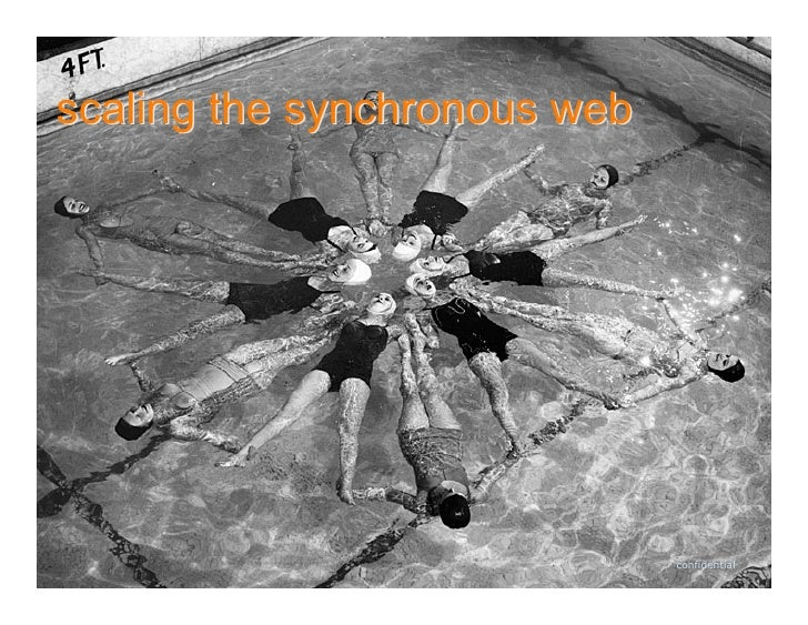 scaling the synchronous web                                   confidential