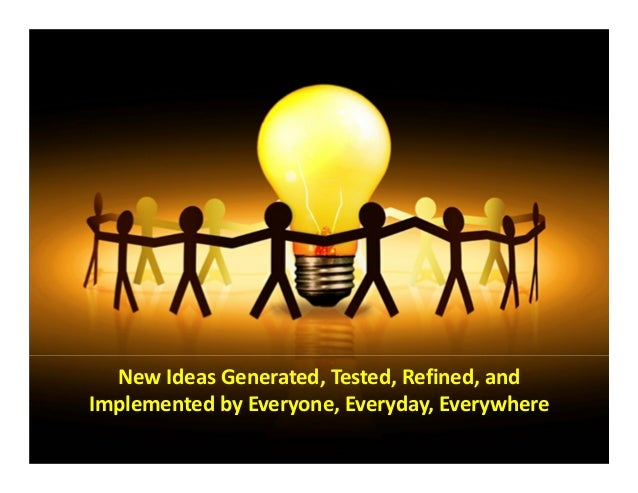 © 2013 The Karen Martin Group, Inc. 1313 New Ideas Generated, Tested, Refined, and  Implemented by Everyone, Everyday, Eve...