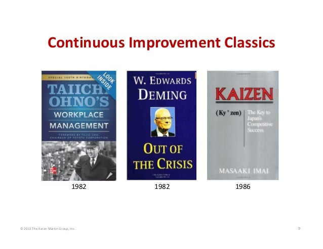 © 2013 The Karen Martin Group, Inc. 9 Continuous Improvement Classics 1982 1982 1986