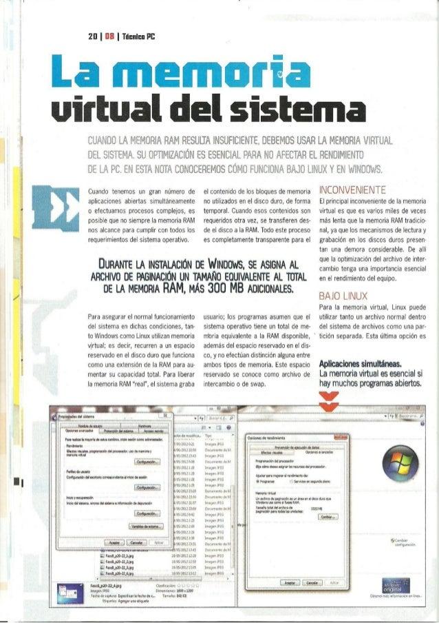 2|] I III I Timrlur PE  La memoria virtual del sistema      A  CEÉAIlBO LA ÏVIEIJEORIA RAM RESULTA INSUFICIENTE,  DEBEMOS ...