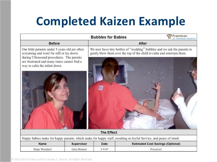 Completed Kaizen Example 169 2012