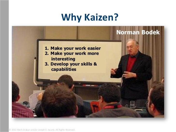 Why Kaizen?                                                                                                          N...
