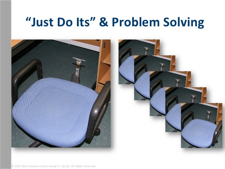 """""""Just Do Its"""" & Problem Solving © 2012 Mark Graban and/or Joseph E. Swartz. All Rights Res..."""