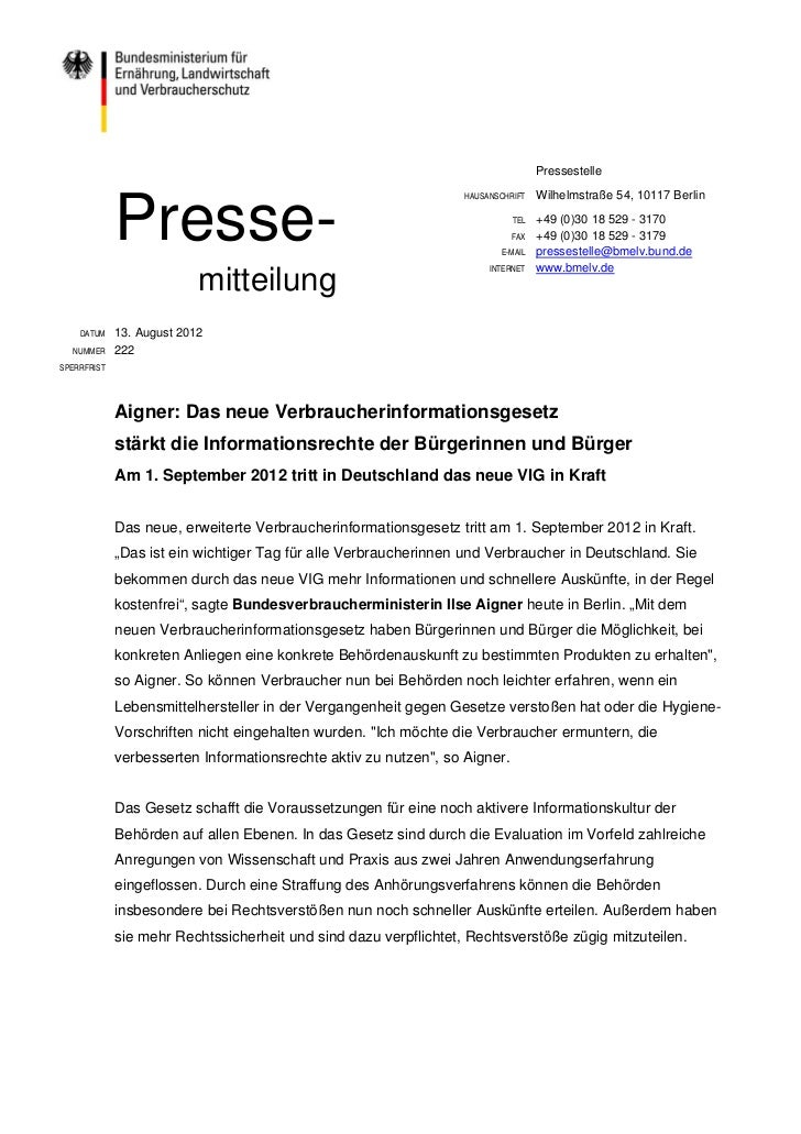 Pressestelle                                                                  HAUSANSCHRIFT   Wilhelmstraße 54, 10117 Berl...