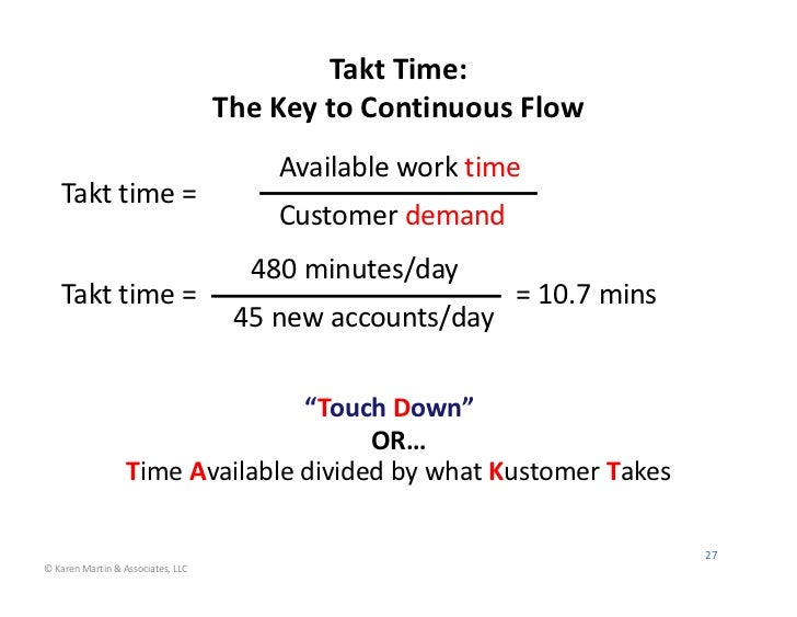 Takt Time:                                                    The Key to Continuous Flow                                  ...