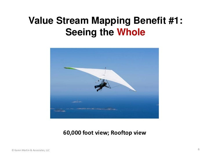 Value Stream Mapping Benefit #1:                      Seeing the Whole                                   60,000footview;...