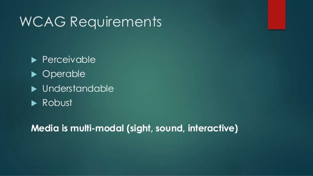HTML5 Video Accessibility: Updates, Features, & Guidelines Slide 3