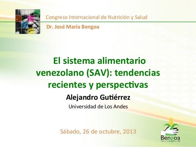 Congreso  Internacional  de  Nutrición  y  Salud   Dr.  José  María  Bengoa    El  sistema  alimen...