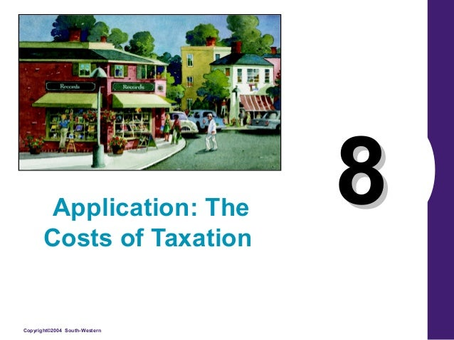 Application: The Costs of Taxation  Copyright©2004 South-Western  8