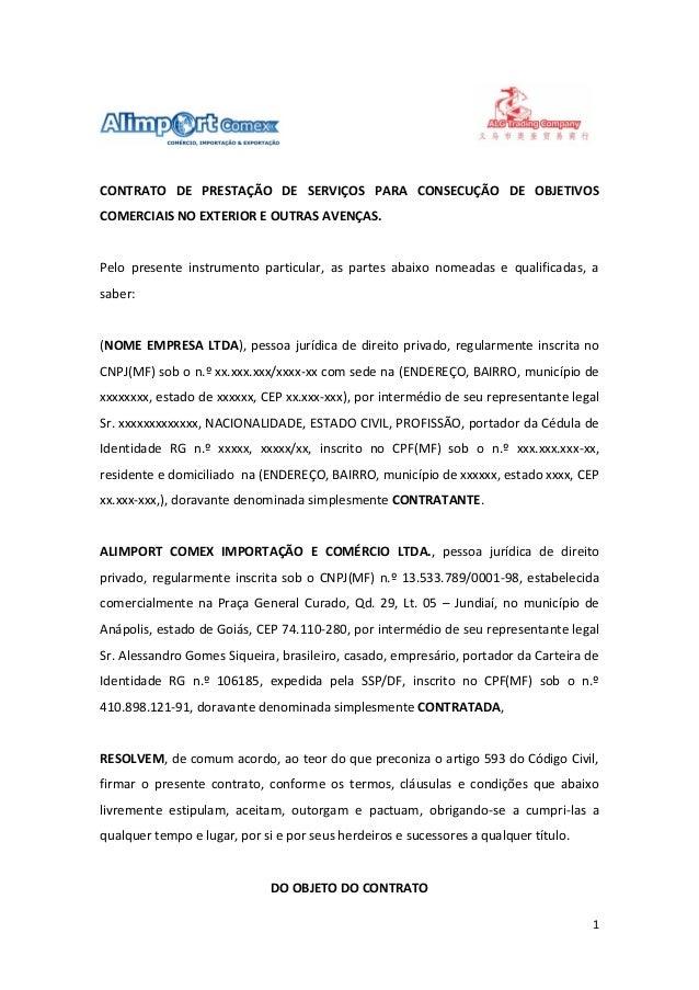 modelo de contrato internacional