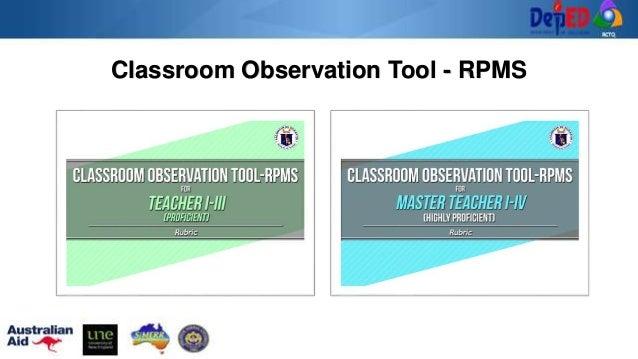Classroom Observation Tool - RPMS