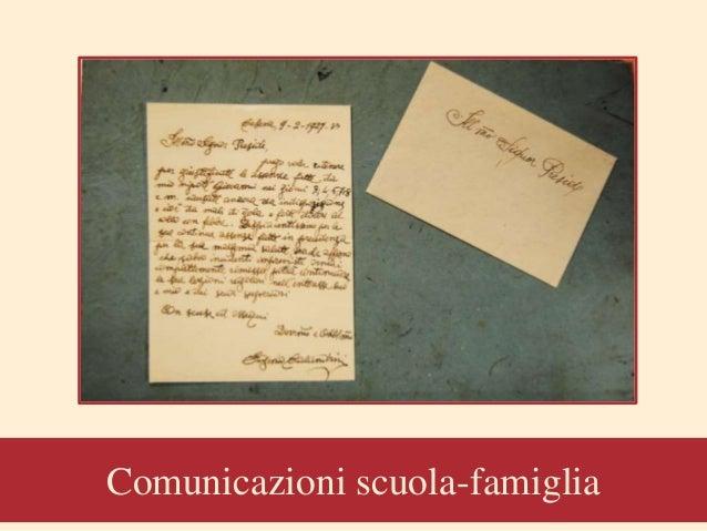 Comunicazioni scuola-famiglia