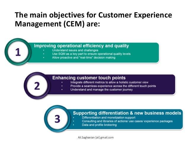 customer experience objectives