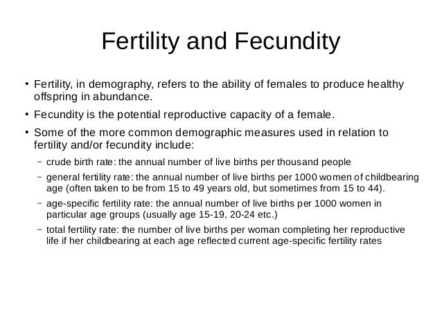 Charming ... Migration; 5. Fertility And Fecundity ...
