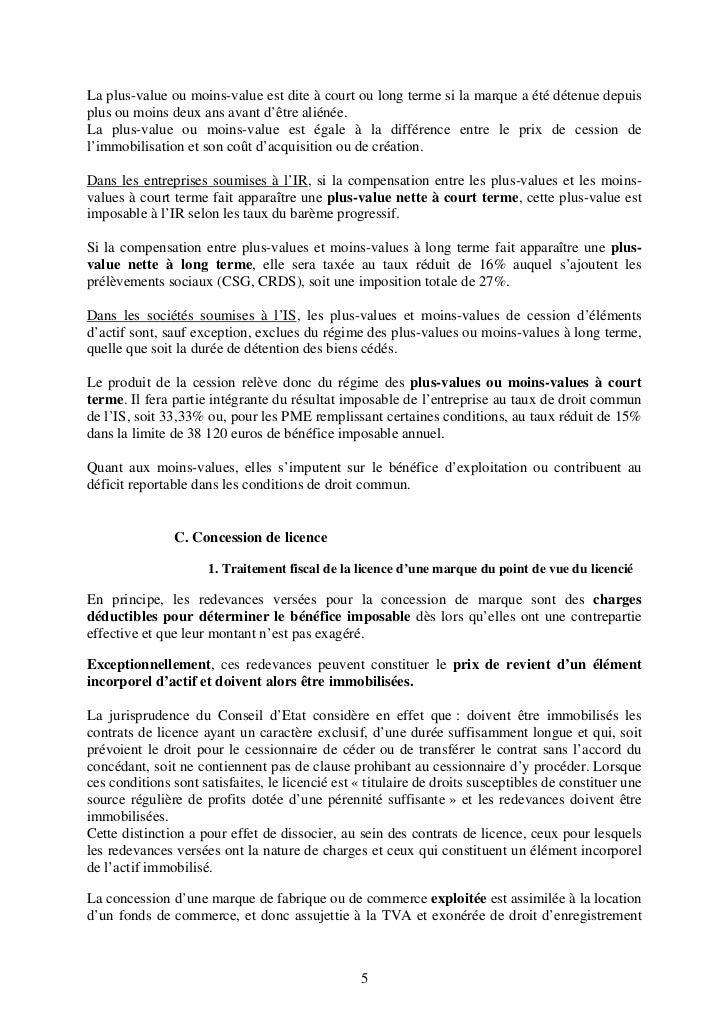 Regime Fiscal De La Marque
