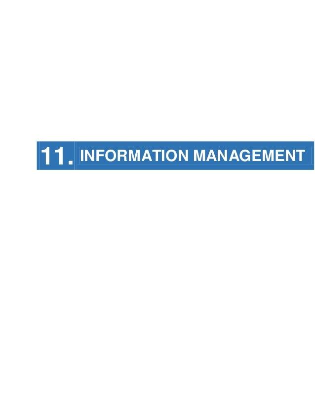 11. INFORMATION MANAGEMENT