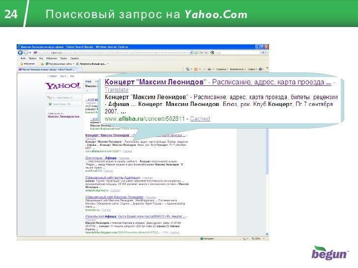 Поисковый запрос на  Yahoo.Com