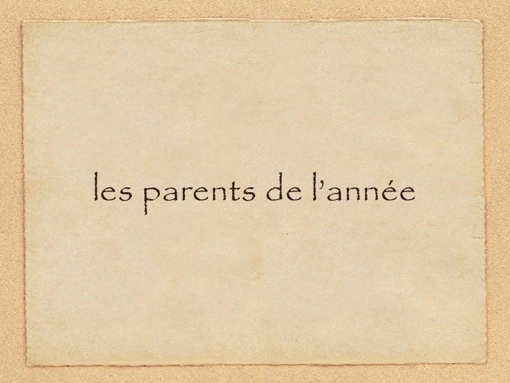 les parents de l'année