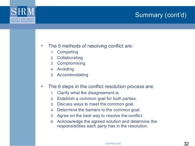 the different techniques used for resolving the inherent disagreements Identifying actions that aggravate conflict, others that resolve differences and the different method of coping with conflict are all part of conflict management which are discussed in detail below managerial actions that aggravate conflicts.
