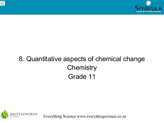 1Everything Science www.everythingscience.co.za8. Quantitative aspects of chemical changeChemistryGrade 11