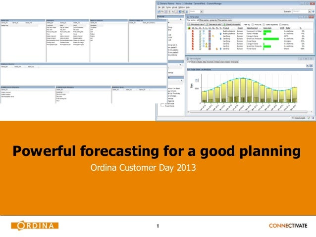 Powerful forecasting for a good planning          Ordina Customer Day 2013                         1