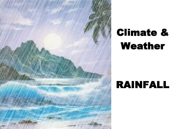 Climate & Weather RAINFALL