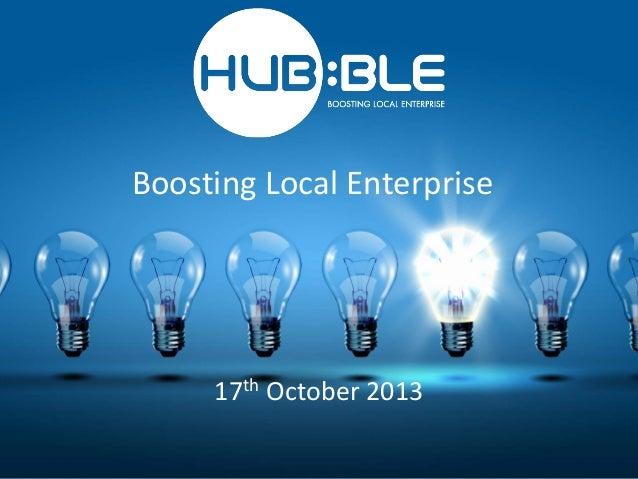 Boosting Local Enterprise  17th October 2013