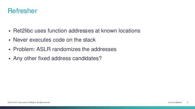 08 - Return Oriented Programming, the chosen one Slide 3