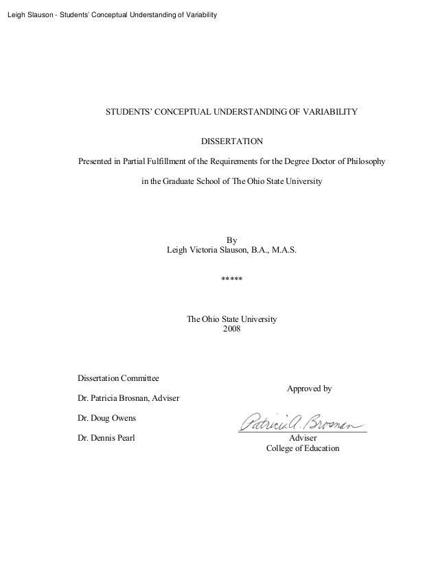 Leigh Slauson - Students' Conceptual Understanding of Variability                              STUDENTS' CONCEPTUAL UNDERS...