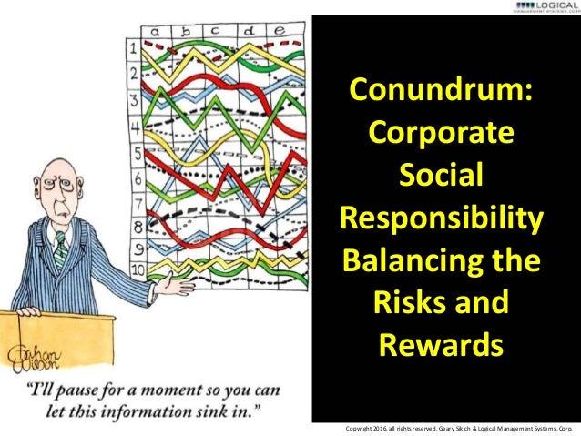 how to balance corporate and social responsibilities Csr: corporate social responsibility  , j, lee, h, & kim, c (2014) corporate social responsibilities  balance aspects of csr is often a challenge facing.