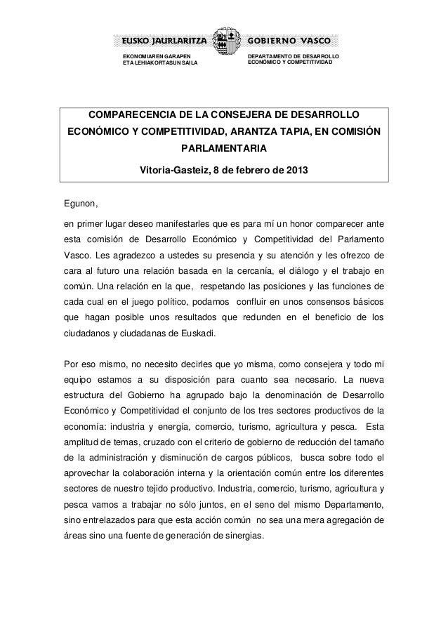 EKONOMIAREN GARAPEN             DEPARTAMENTO DE DESARROLLO               ETA LEHIAKORTASUN SAILA         ECONÓMICO Y COMPE...