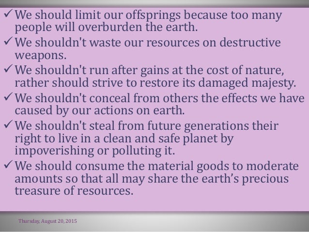 the importance of environmental education The planet earth is on the verge of extinction and no additional reason apart from  this is essential to stress the crucial role of environmental education we have.